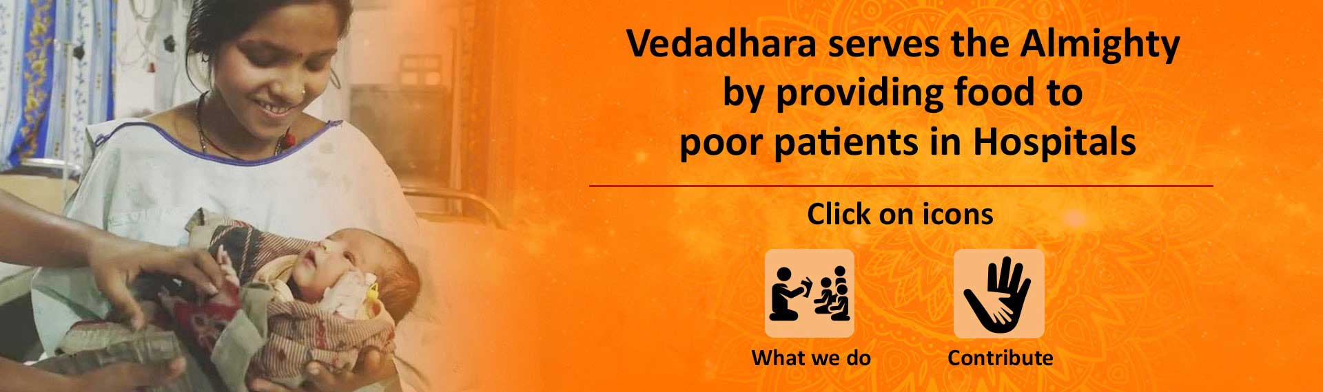 Vedadhara serves the Almighty by providing food to poor patients in Hospitals